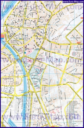Карта города Севилья