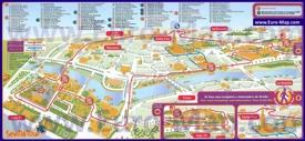 Туристическая карта Севильи с достопримечательностями