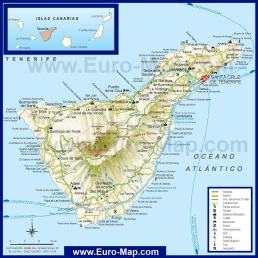 Туристическая карта Тенерифе