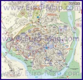 Подробная карта города Толедо