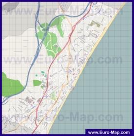Подробная карта города Торремолинос