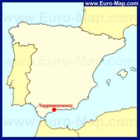 Торремолинос на карте Испании
