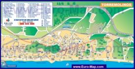 Туристическая карта Торремолиноса с отелями и достопримечательностями
