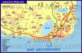 Карта Торревьехи с окрестностями