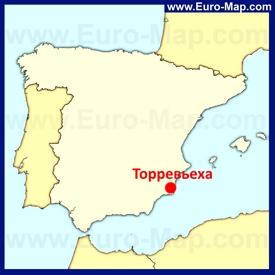 Торревьеха на карте Испании