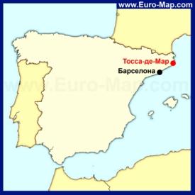 Тосса-де-Мар на карте Испании