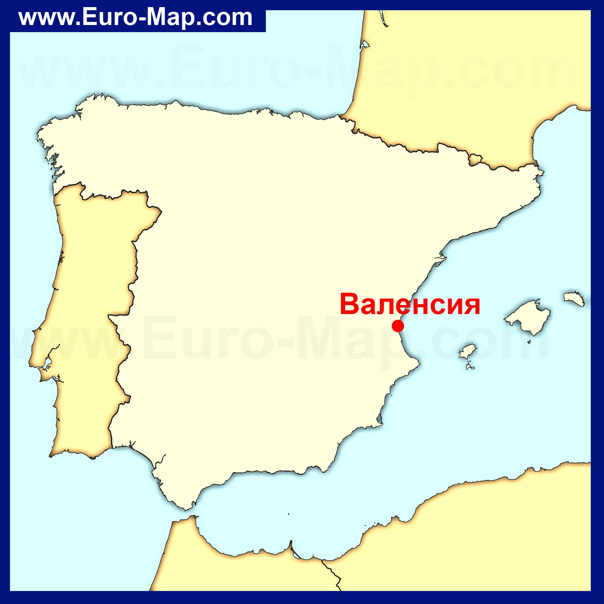 Карты Валенсии | Карта города Валенсия с ... Валенсия Испания Карта