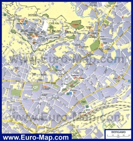Карта города Бергамо
