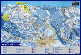 Карта горнолыжного курорта Бормио с трассами