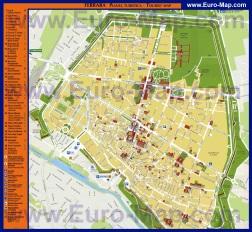 Подробная туристическая карта города Феррара