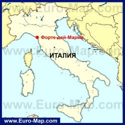 Форте-дей-Марми на карте Италии