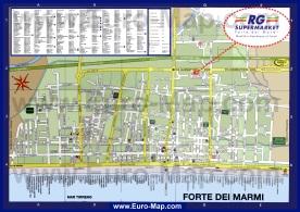 Подробная карта курорта Форте-дей-Марми