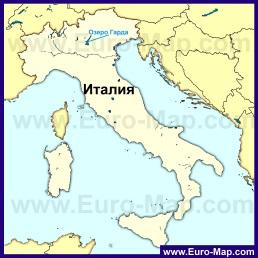 Озеро Гарда на карте Италии