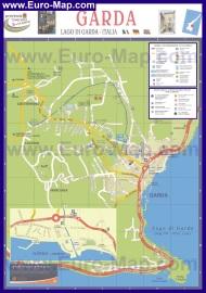 Подробная карта города Гарда с достопримечательностями