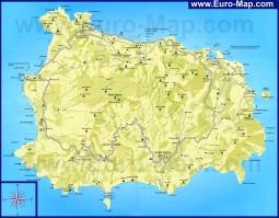 Подробная карта острова Искья