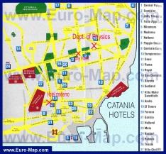 Карта отелей Катании