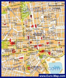 Подробная карта города Катания с достопримечательностями