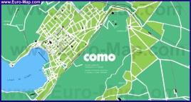 Подробная карта города Комо