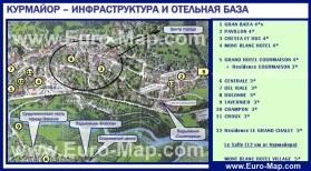 Карта Курмайора с отелями