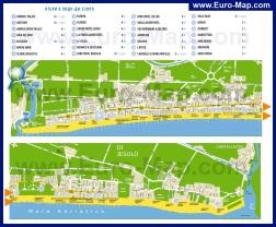 Карта Лидо ди Езоло с отелями