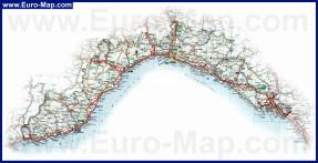 Подробная карта Лигурии