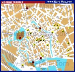 Подробная карта города Ливорно с отелями