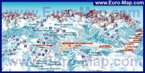 Карта горнолыжного курорта Мадонна ди Кампильо