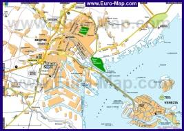 Карта Местре и Венеции