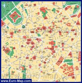 Карта центра города Милан
