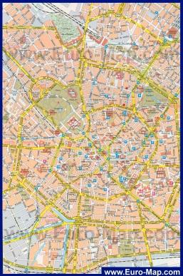 Карта Милана с достопримечательностями