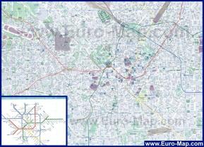 Подробная карта Милана