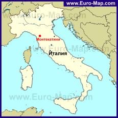Монтекатини-Терме на карте Италии
