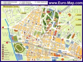 Туристическая карта Монтекатини с отелями