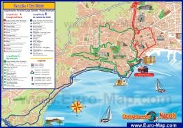 Карта Неаполя с достопримечательностями