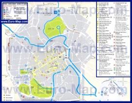 Карта Падуи с достопримечательностями