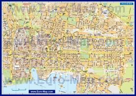 Карта города Палермо