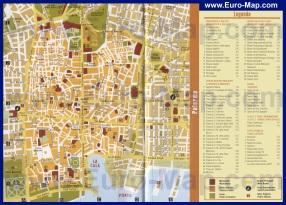 Подробная карта Палермо с достопримечательностями