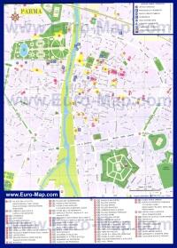 Карта Пармы с достопримечательностями