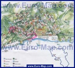 Туристическая карта Позитано