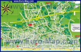 Туристическая карта Риччоне