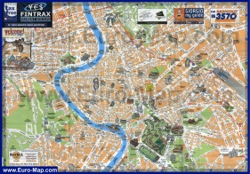Подробная карта Рима с достопримечательностями