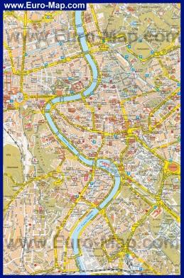 Туристическая карта Рима с улицами