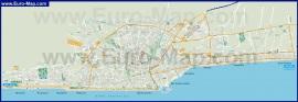 Подробная карта города Римини