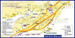Подробная карта Сан-Ремо