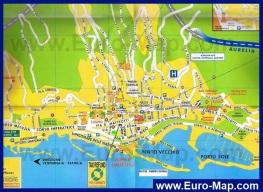 Туристическая карта Сан-Ремо