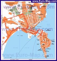Подробная карта города Сиракуза