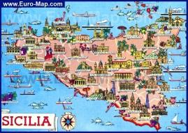 Туристическая карта Сицилии