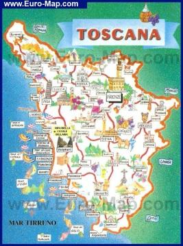 Туристическая карта побережья Тосканы