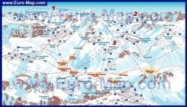Карта горнолыжного курорта Валь ди Фасса