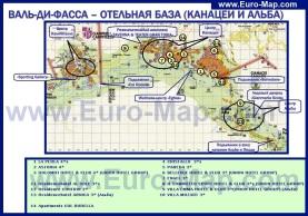 Карта Валь ди Фасса с отелями